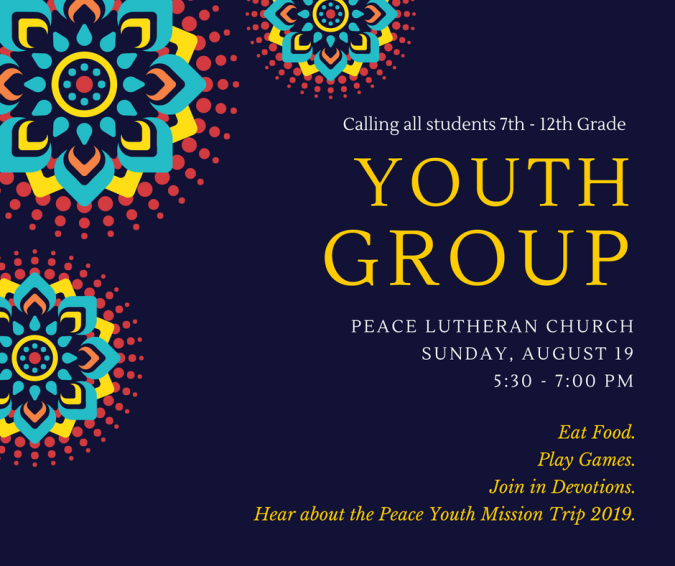 Youth Group 8.19.18