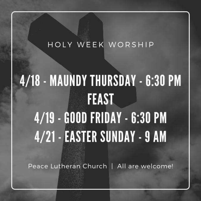 Holy Week Worship (1)